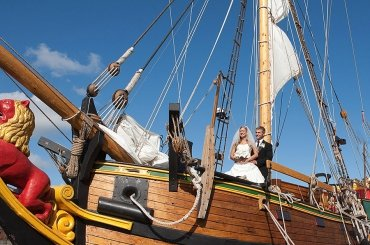Wedding on Sailing Ship