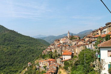 Сastle in Ligurian mountains